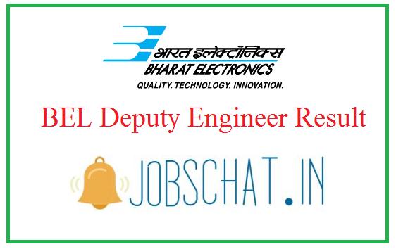 BEL Deputy Engineer Result