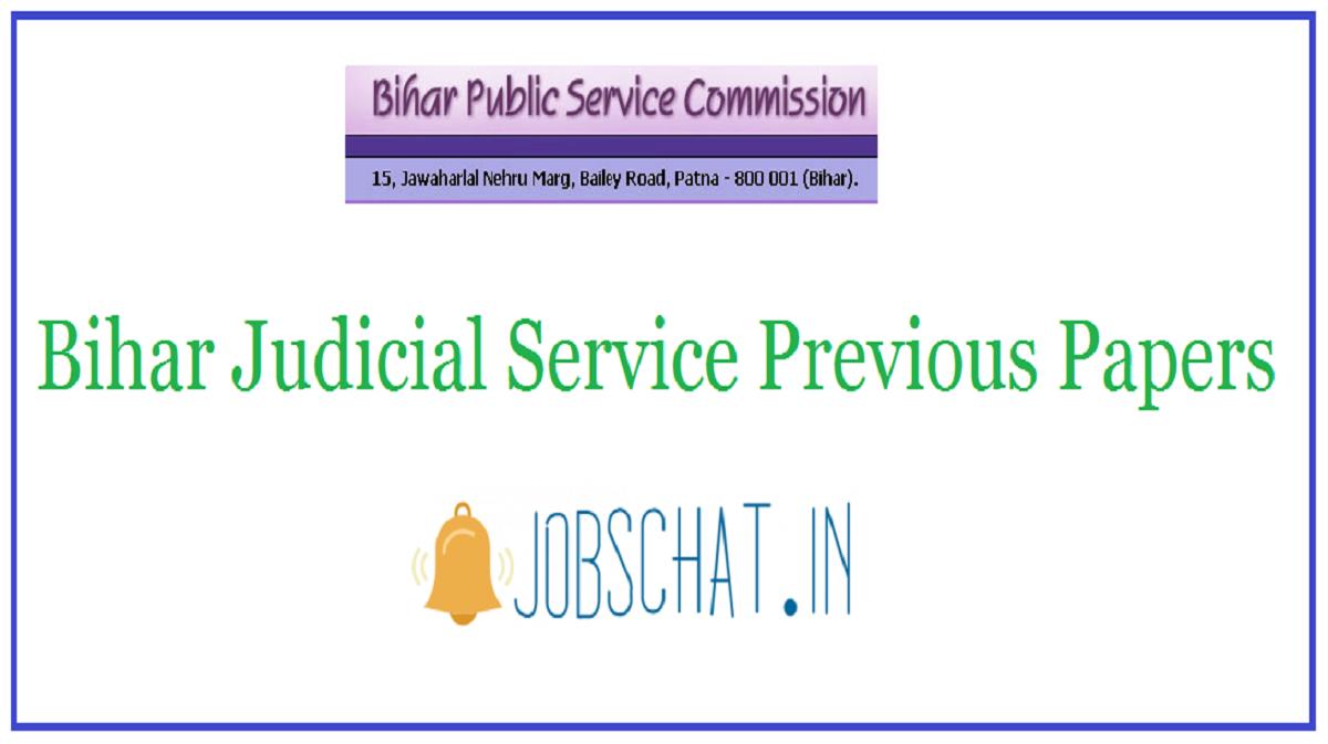 Bihar Judicial Service Previous Papers