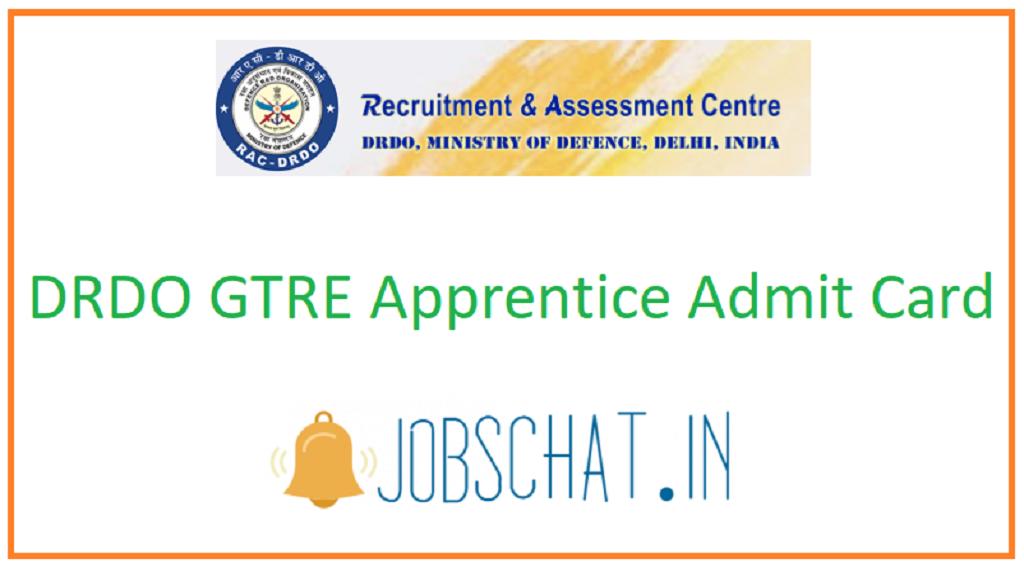 DRDO GTRE Apprentice Admit Card