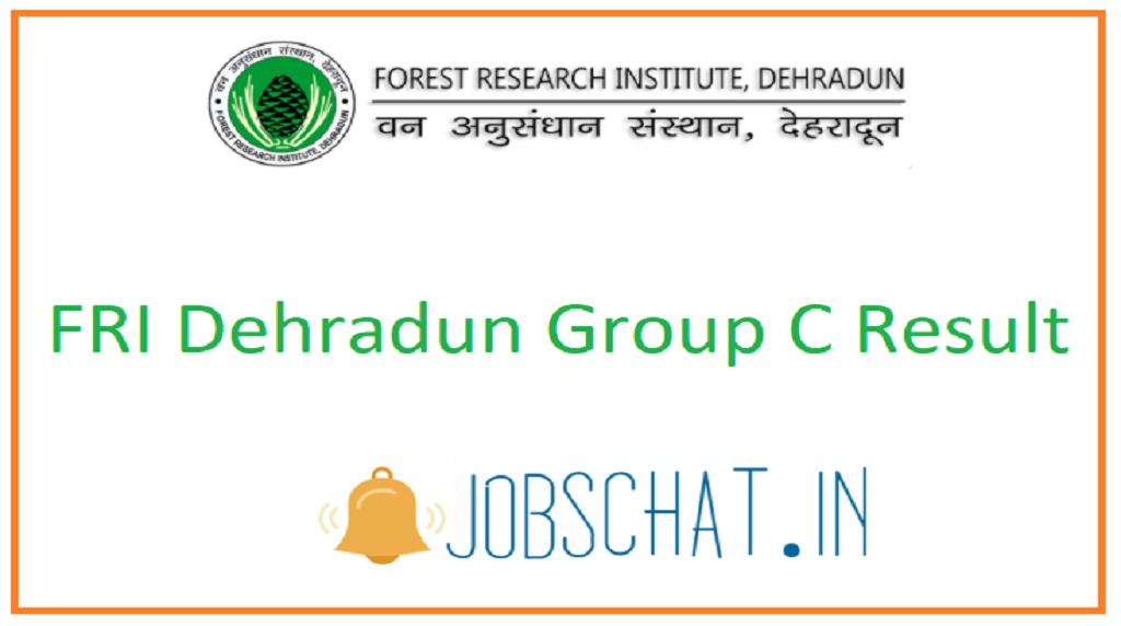 FRI Dehradun Group C Result
