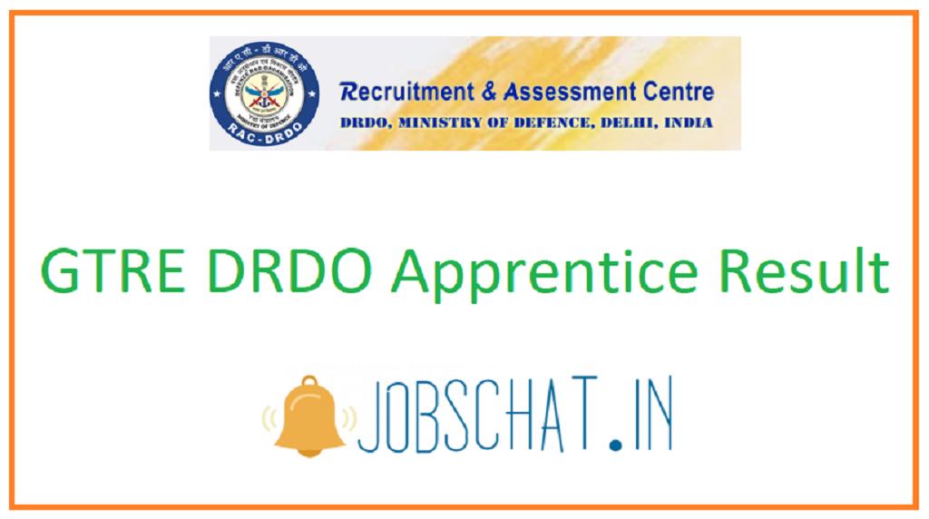GTRE DRDO Apprentice Result