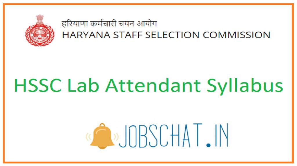 HSSC Lab Attendant Syllabus