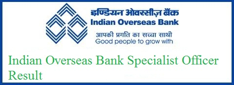 Indian Overseas Bank SO Result