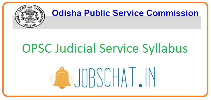 OPSC Judicial Service Syllabus