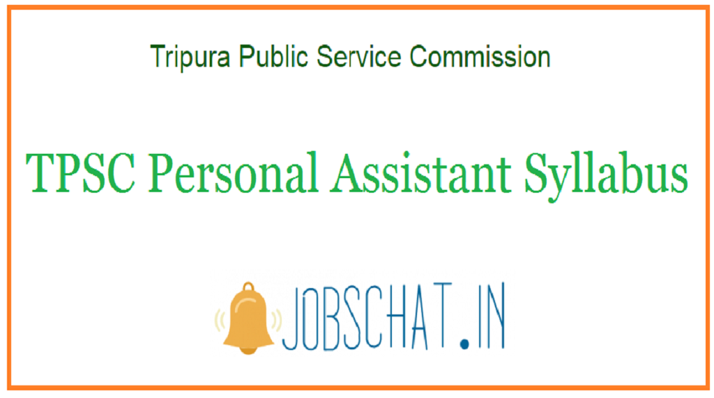 TPSC Personal Assistant Syllabus