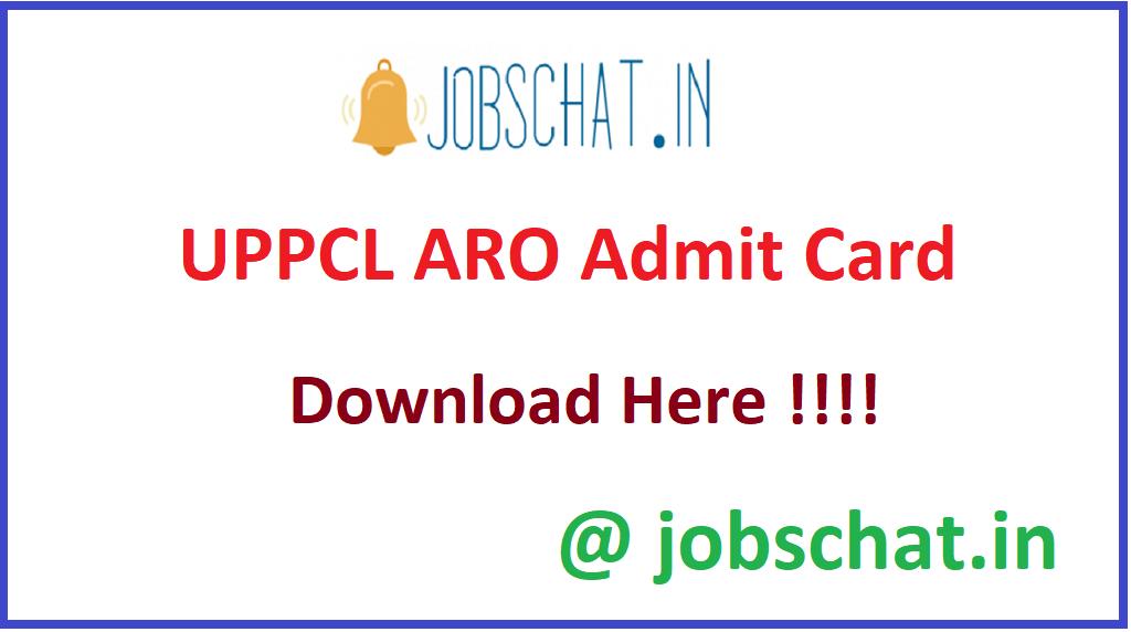 UPPCL ARO Admit Card