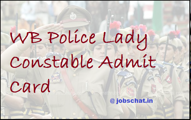 WB Police Lady Constable Admit Card