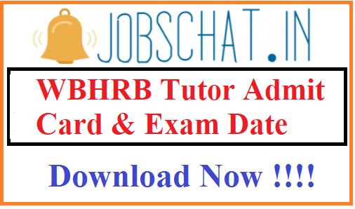 WBHRB Tutor Admit Card