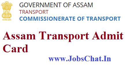 Assam Transport Admit Card