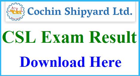 Cochin Shipyard Executive Trainee Results