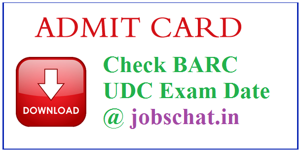 BARC UDC Admit Card