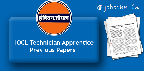 IOCL Apprentice Previous Papers
