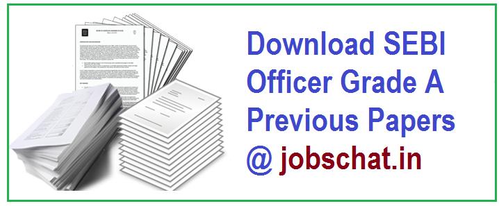 SEBI Officer Grade A Previous Papers