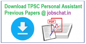 TPSC Personal Assistant Previous Papers
