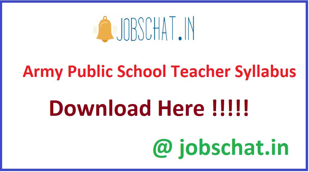 Army Public School Teacher Syllabus