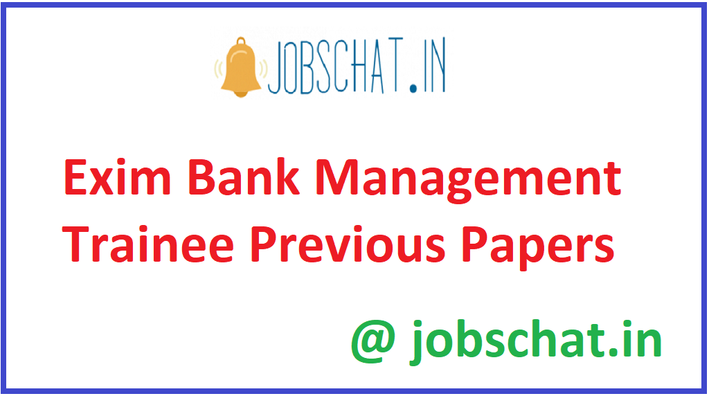 Exim Bank Management Trainee Previous Papers
