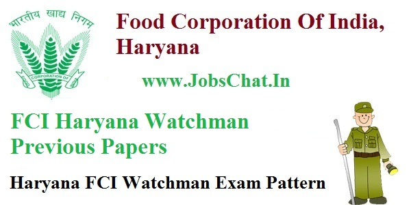 FCI Haryana Watchman Previous Papers