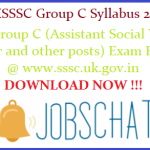 UKSSSC Group C Syllabus 2018 | Download Group C (Assistant Social Welfare Officer and other posts) Exam Pattern & Syllabus Pdf @ www.sssc.uk.gov.in