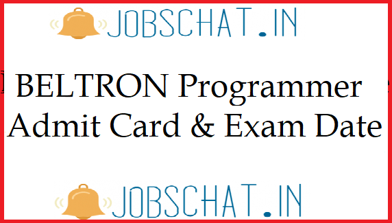 BELTRON Programmer Admit Card