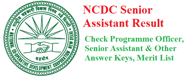 NCDC Senior Assistant Result