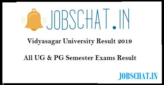 Vidyasagar University Result 2019
