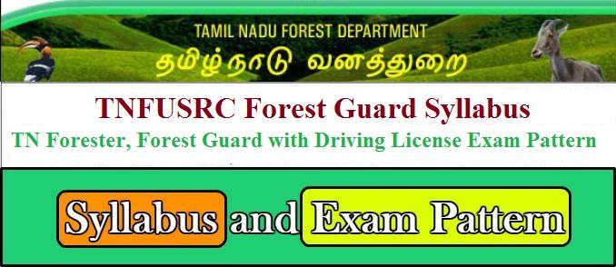 TNFUSRC Forest Guard Syllabus