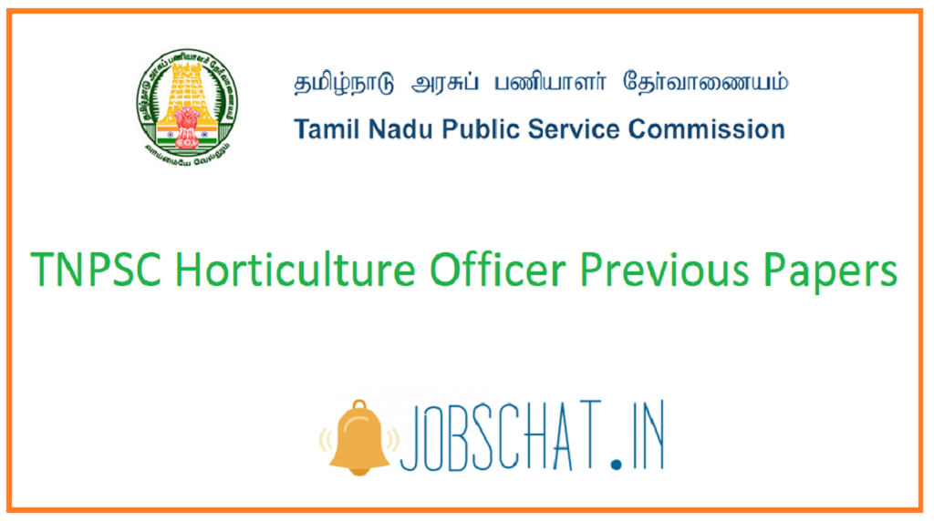 TNPSC Horticulture Officer Previous Papers