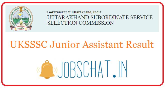 UKSSSC Junior Assistant Result
