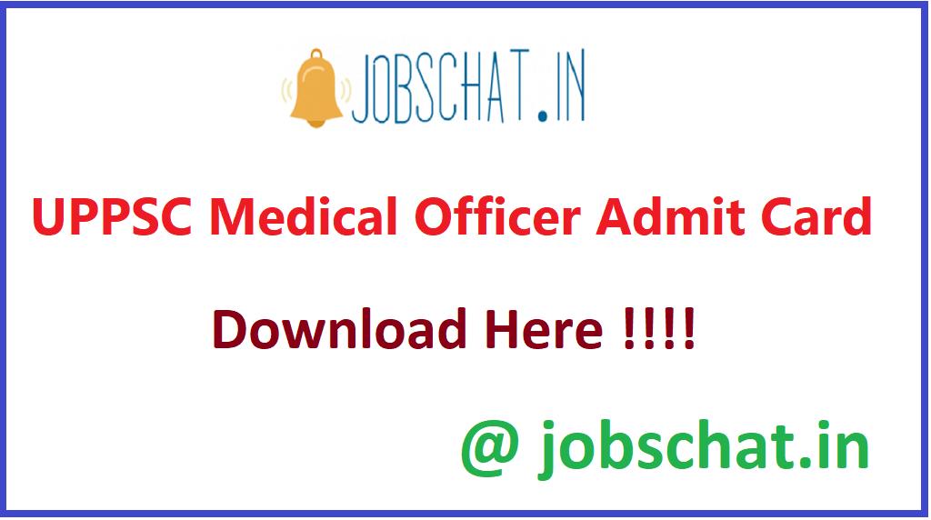 UPPSC Medical Officer Admit Card