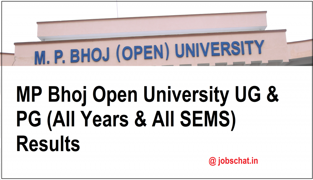 MP Bhoj Open University Results