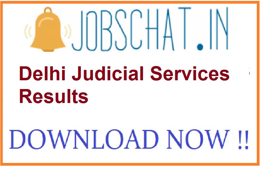Delhi Judicial Services Results