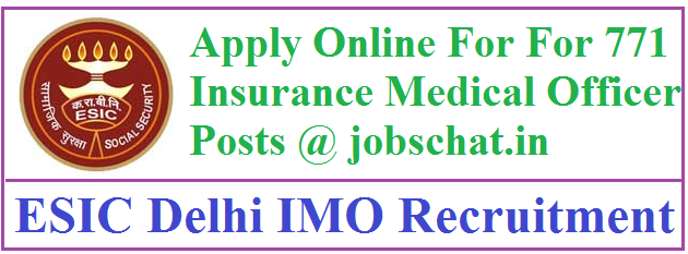 ESIC Delhi IMO Recruitment