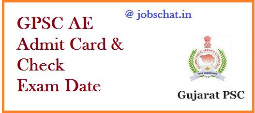 GPSC AE Admit Card