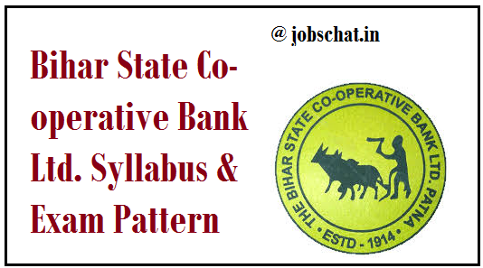 Bihar State Co-operative Bank Ltd. Syllabus