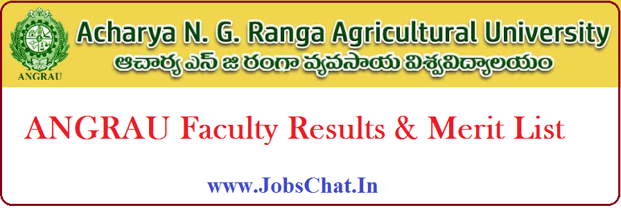 ANGRAU Faculty Results