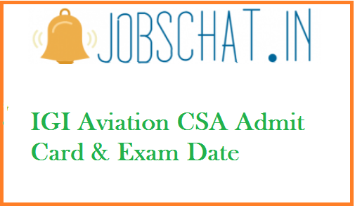 IGI Aviation CSA Admit Card