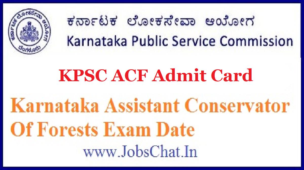 KPSC ACF Admit Card