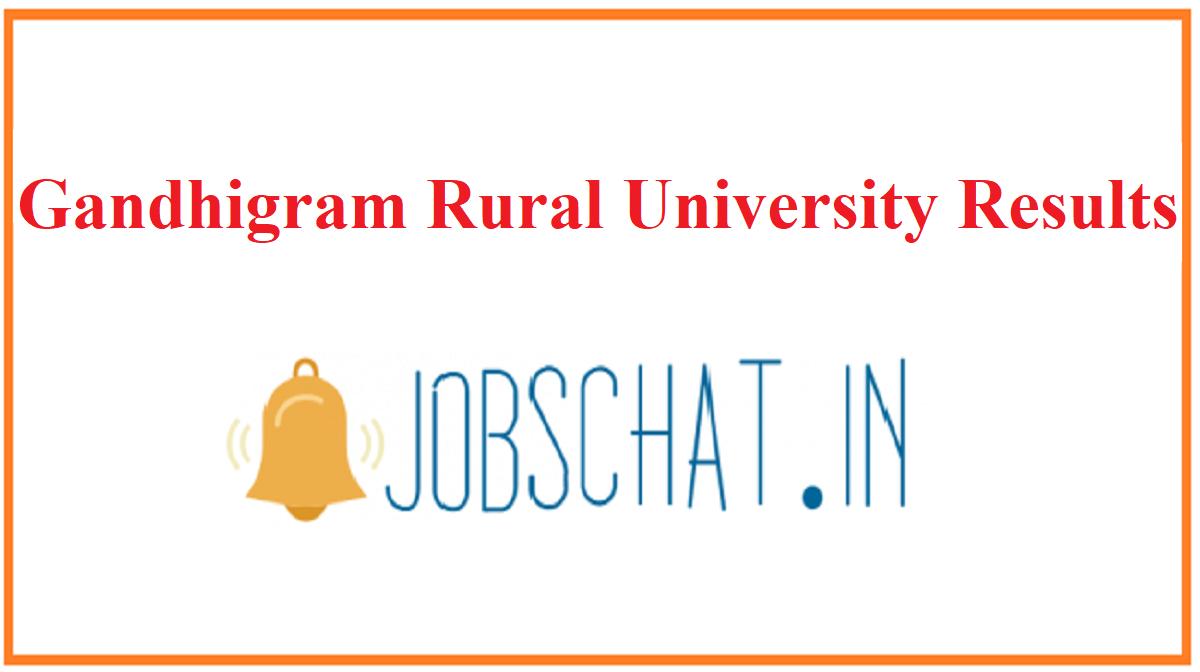 Gandhigram Rural University Results