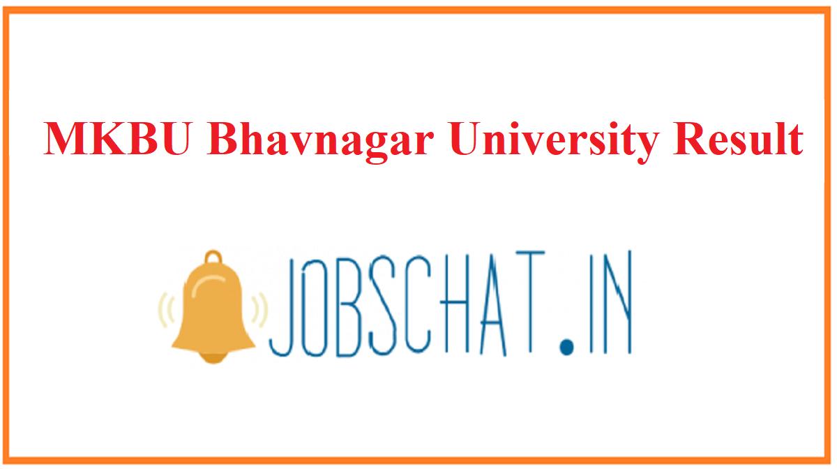 MKBU Bhavnagar University Result
