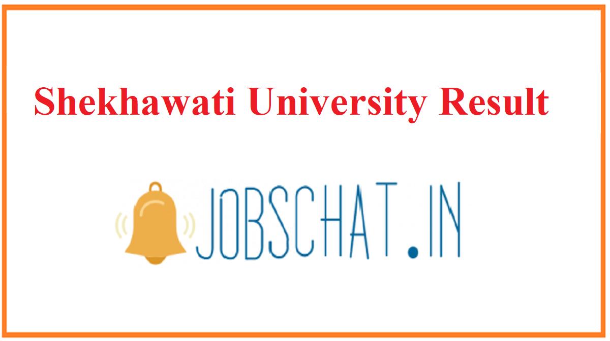 Shekhawati University Result