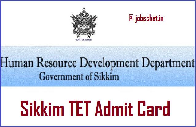 Sikkim TET Admit Card