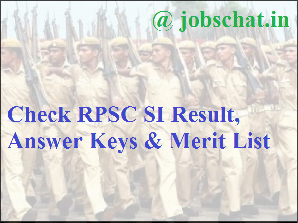 RPSC SI Result