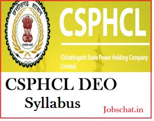 CSPHCL DEO Syllabus