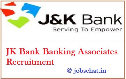 JK Bank Banking Associates Recruitment