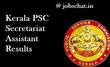 Kerala PSC Secretariat Assistant Results