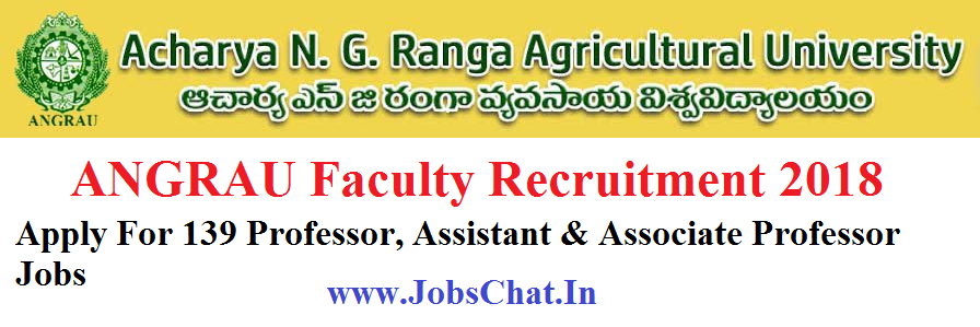 ANGRAU Faculty Recruitment