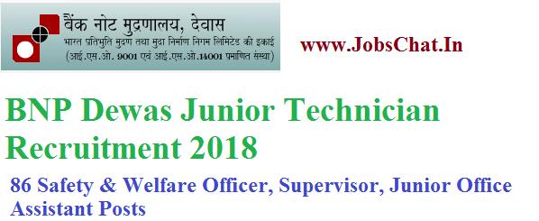 BNP Dewas Junior Technician Recruitment