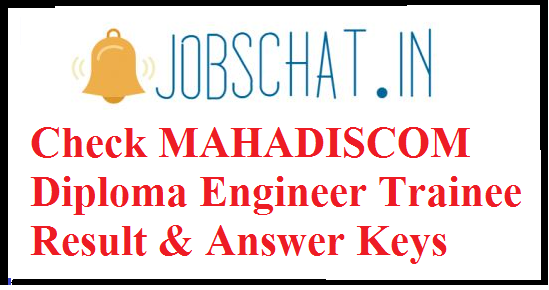 MAHADISCOM Diploma Engineer Trainee Result