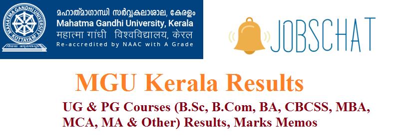 MGU Kerala Results