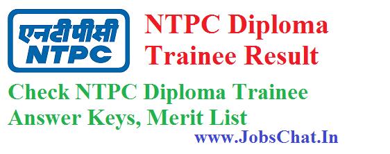NTPC Diploma Trainee Result